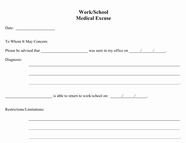Doctor Notes for Work Free Best Of 21 Free Doctor Note Excuse Templates Template Lab