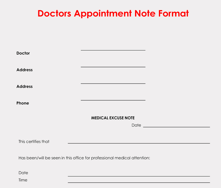 Doctor Notes for Work Fresh 36 Free Fill In Blank Doctors Note Templates for Work