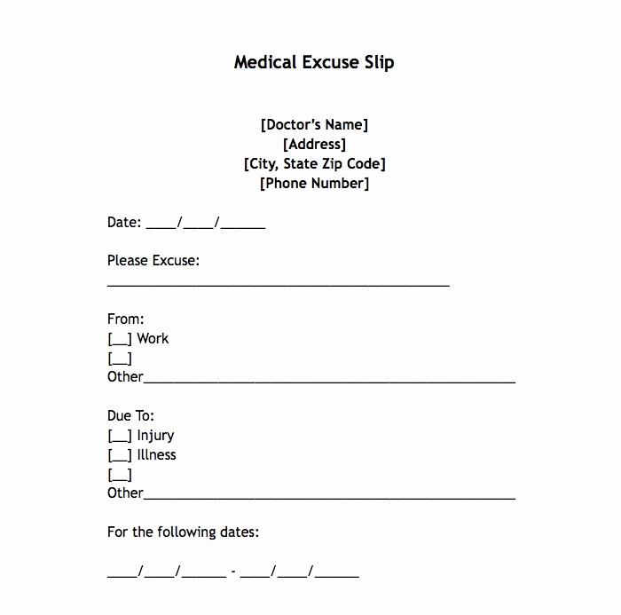 Doctors Excuse for Work Beautiful 25 Free Printable Doctor Notes Templates for Work Updated