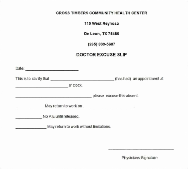 Doctors Excuse for Work Beautiful 35 Doctors Note Templates Word Pdf Apple Pages