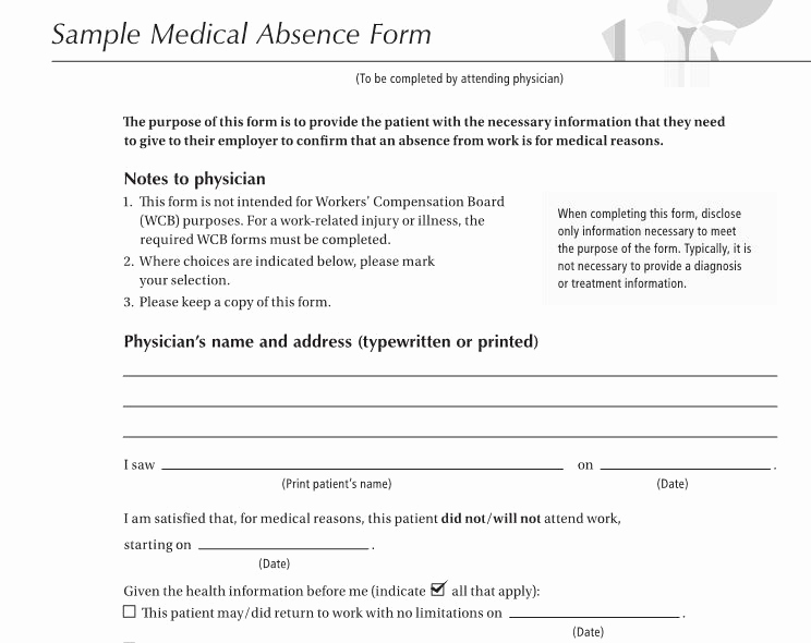Doctors Excuse for Work Lovely 25 Free Doctor Note Excuse Templates Template Lab