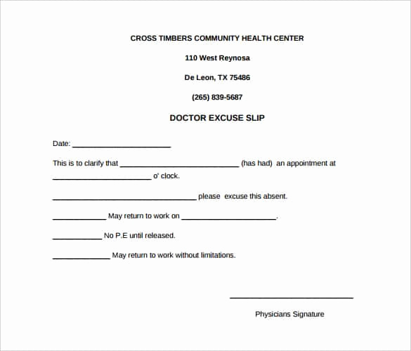 Doctors Excuse for Work Luxury 35 Doctors Note Templates Word Pdf Apple Pages