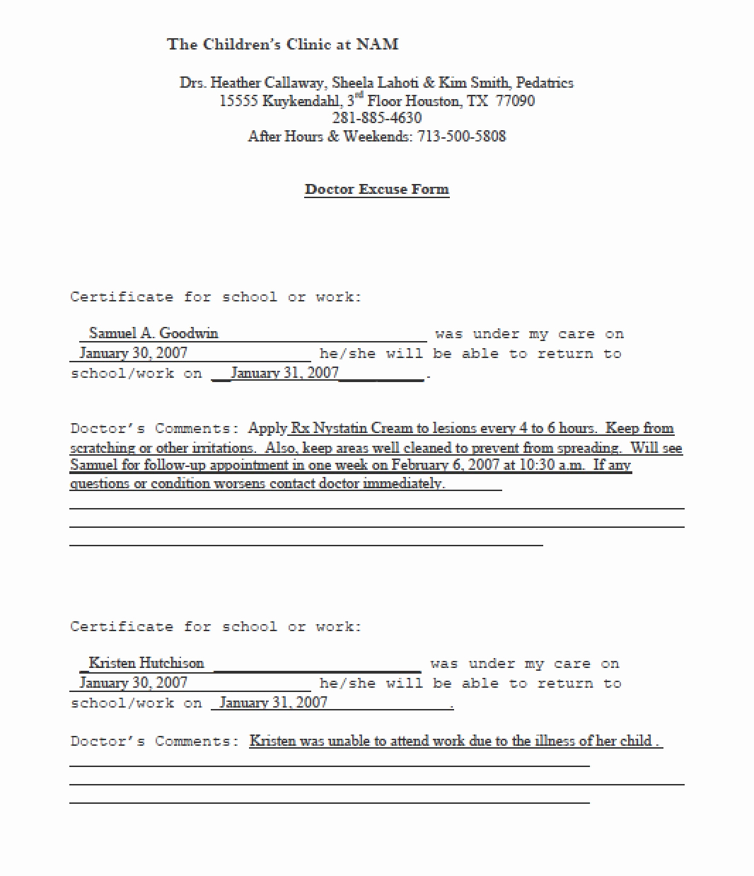 Doctors Excuse for Work Pdf Best Of Download Doctors Note Templates Pdf Rtf