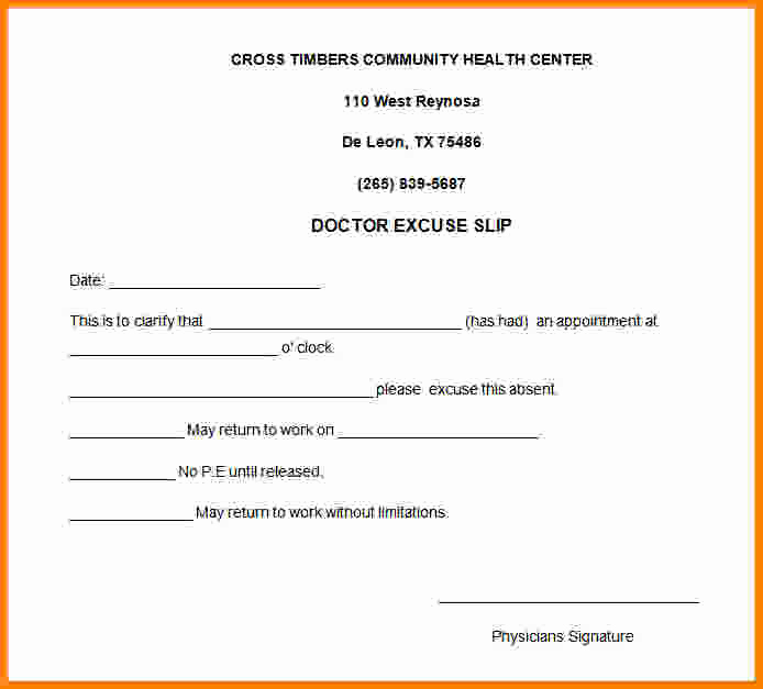 Doctors Note for Work Absence Inspirational 8 Doctor Note for Work