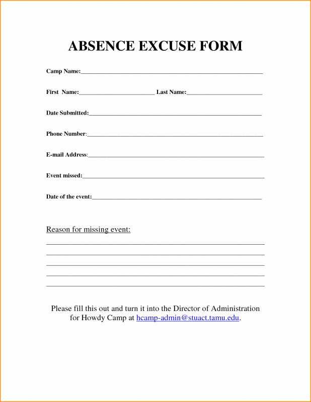 Doctors Note for Work Absence Inspirational Free Printable Doctors Excuse for Work