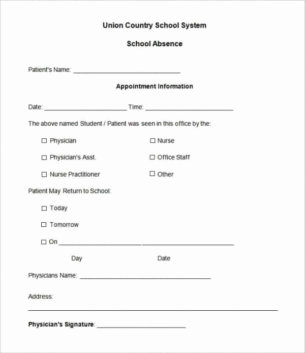 Doctors Note for Work Absence New 35 Doctors Note Templates Word Pdf Apple Pages