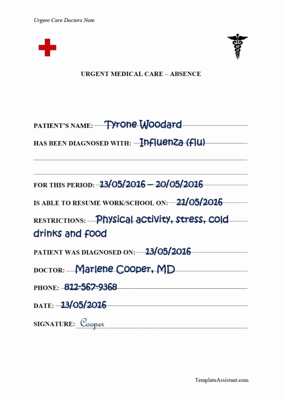 Doctors Note for Work Absence Unique 40 Fake Doctors Note Template Download [pdf Doc]