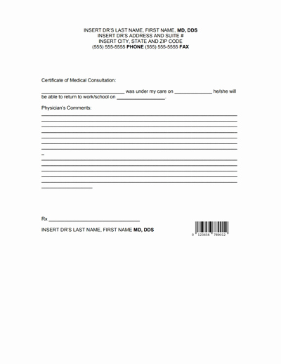 Doctors Note for Work Pdf Fresh Doctors Note for Work Template Download Create Fill and