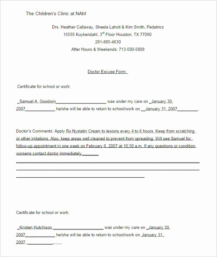 Doctors Note Template Microsoft Word Luxury 37 Doctors Note Template Free Pdf Word Examples