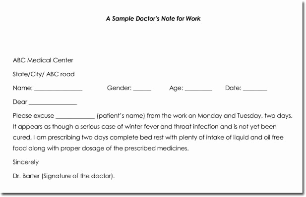 Doctors Note Template Microsoft Word New Doctor S Note Templates 28 Blank formats to Create
