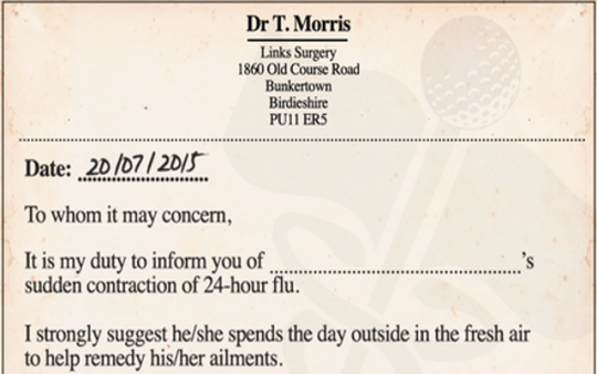 Doctors Notes for Missing Work New Look A Doctor S Note so You Can Skip Work for the British