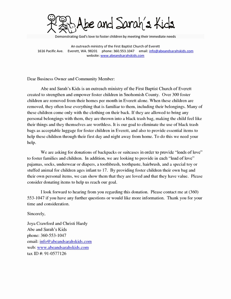 Donation Request Letter Template Best Of Sample Church Donation Letter