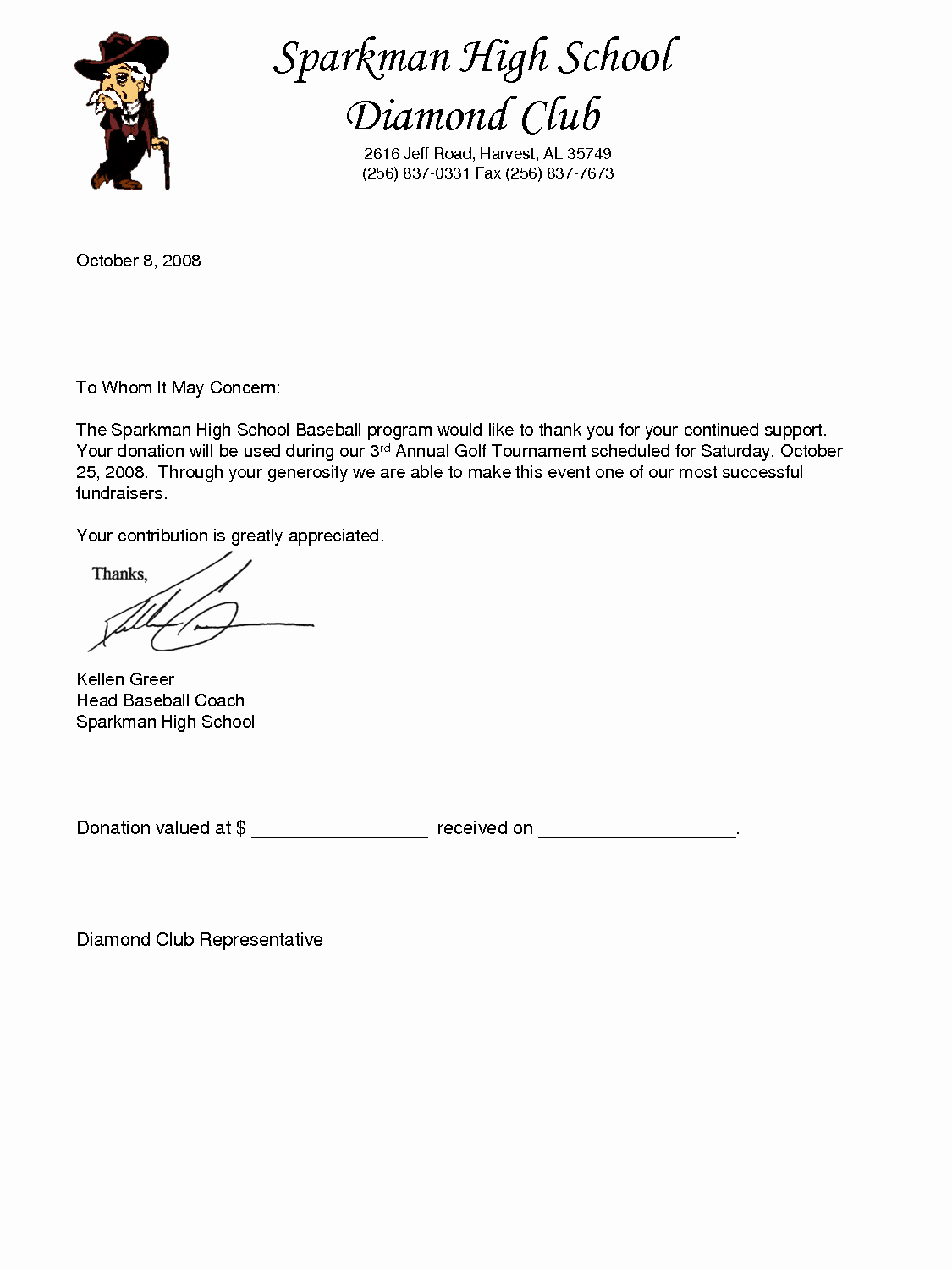 Donation Request Letter Template New Golf tournament Donation Letter Template Download