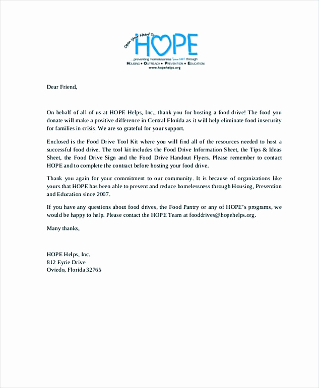 Donation Thank You Letter Template Awesome Sample Thank You Letter