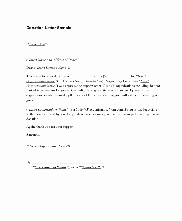 Donor Thank You Letter Beautiful 16 Sample Thank You Letters for Donations Doc Pdf