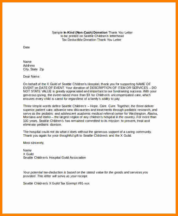 Donor Thank You Letter Best Of 7 Donation Thank You Letter Templates