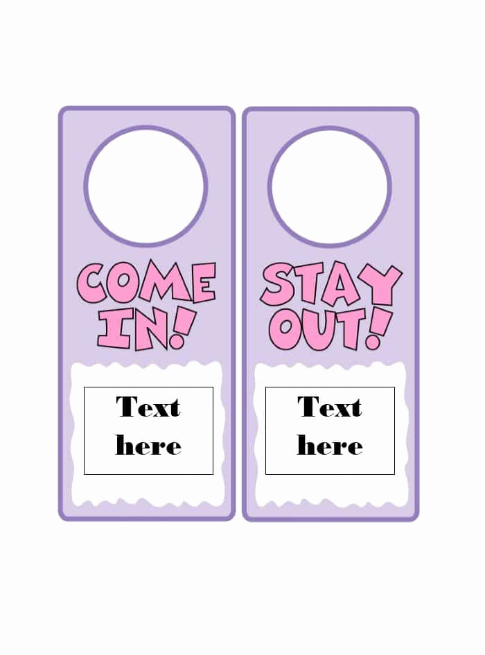 Door Hanger Template for Word Awesome 43 Free Door Hanger Templates Word Pdf Template Lab