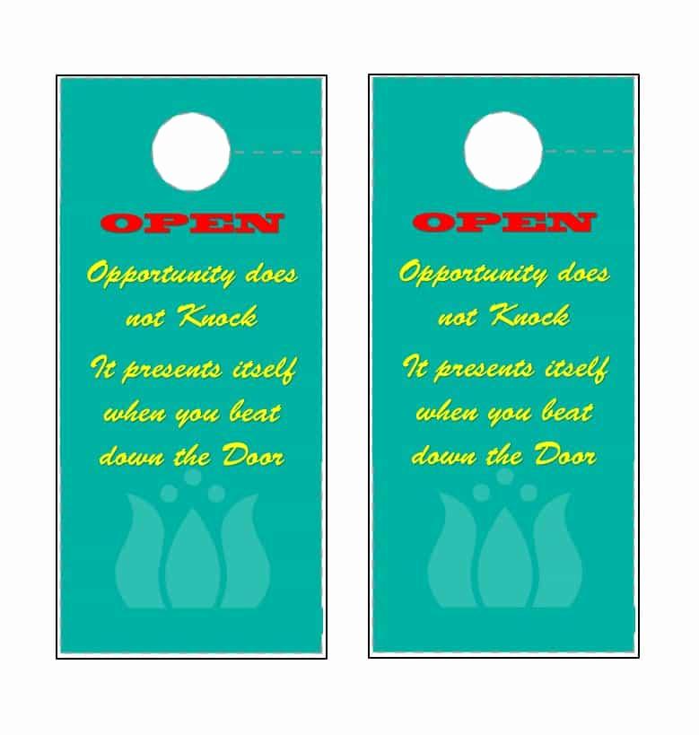 Door Hanger Template for Word New 43 Free Door Hanger Templates Word Pdf Template Lab