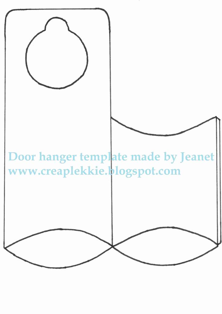Door Hanger Template for Word Unique 25 Best Ideas About Door Hanger Template On Pinterest