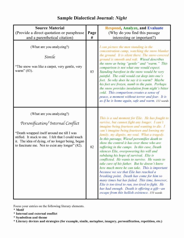 Double Entry Journal Template Elegant Dialectical Journal Template