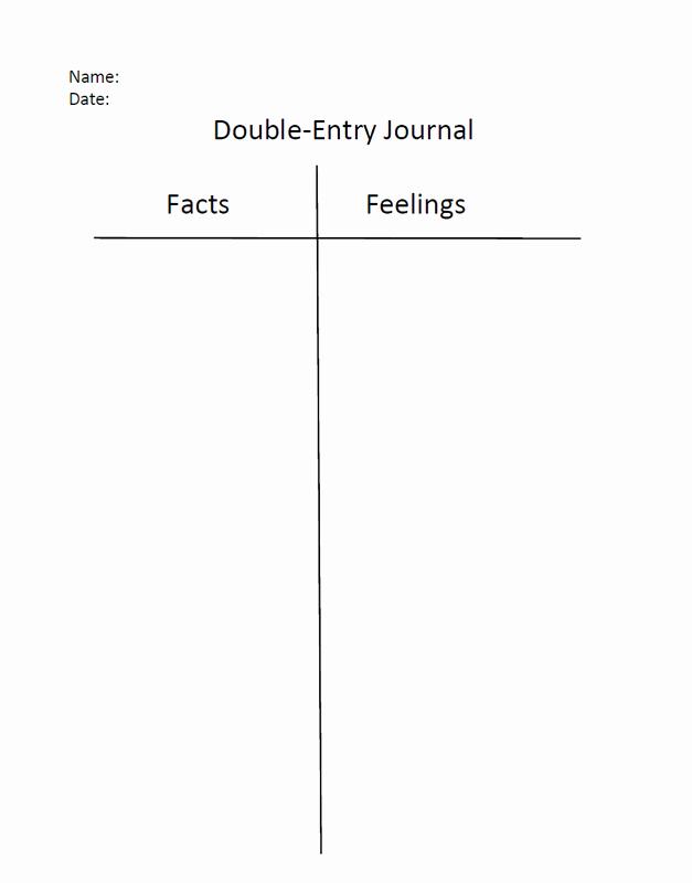 Double Entry Journal Template Unique Picture