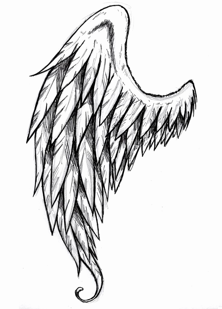 Drawing Of Angels Wings Awesome Best 25 Angel Drawing Ideas On Pinterest