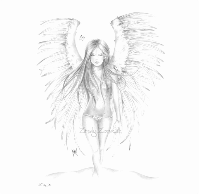 Drawing Of Angels Wings Elegant 28 Angel Drawings Free Drawings Download