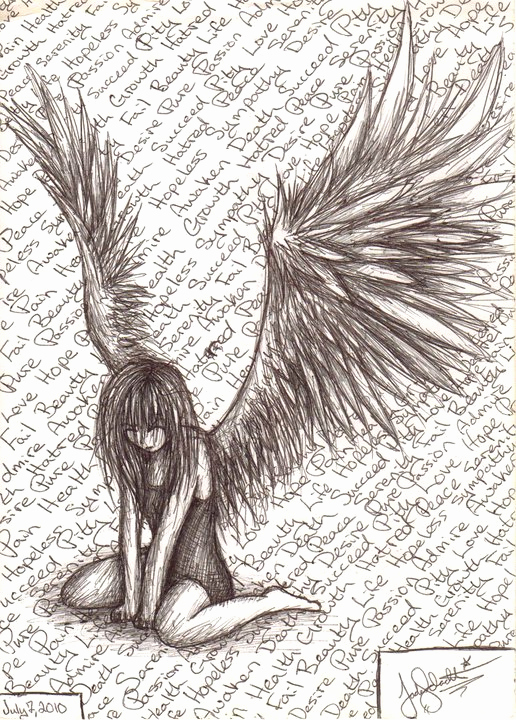Drawing Of Angels Wings Elegant Fallen Angel by Syettaj On Deviantart