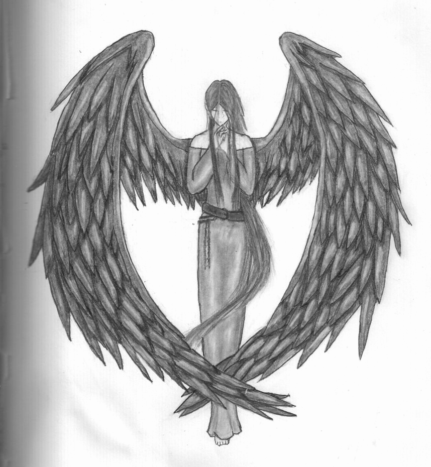 Drawing Of Angels Wings Inspirational Dark Angel by Autsu On Deviantart