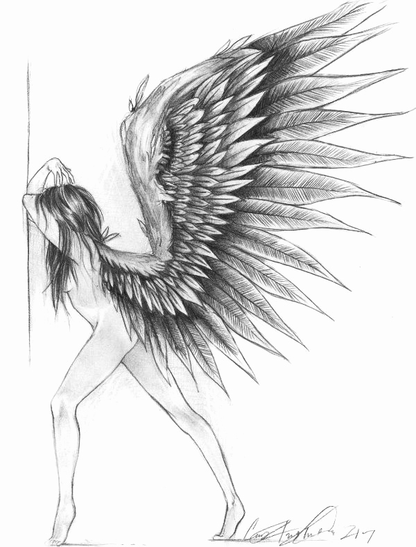 Drawing Of Angels Wings Lovely Angels Drawings 7 119 Art Pinterest