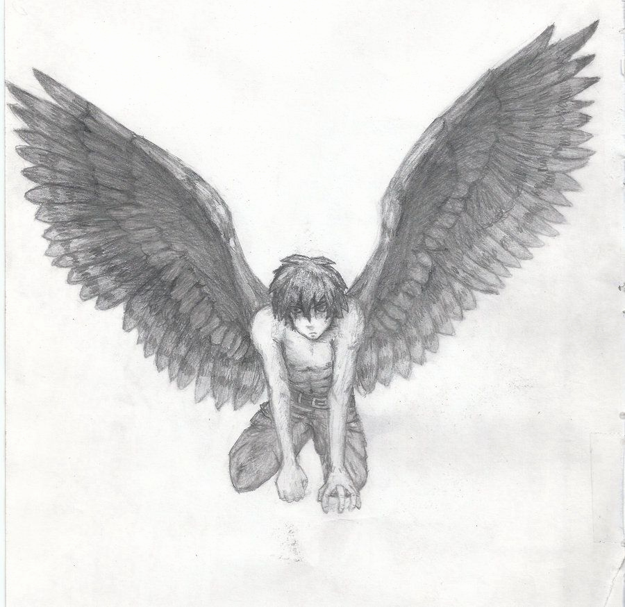 Drawings Of Angels Wings Awesome Anime Boy with Angel Wings