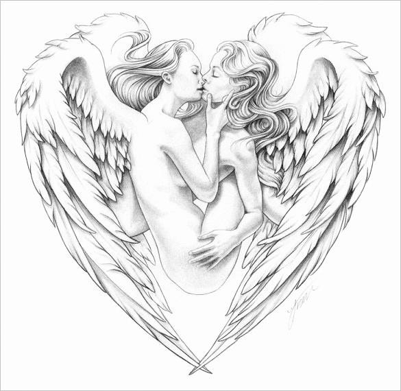 Drawings Of Angels Wings Beautiful 20 Angel Wings Drawings