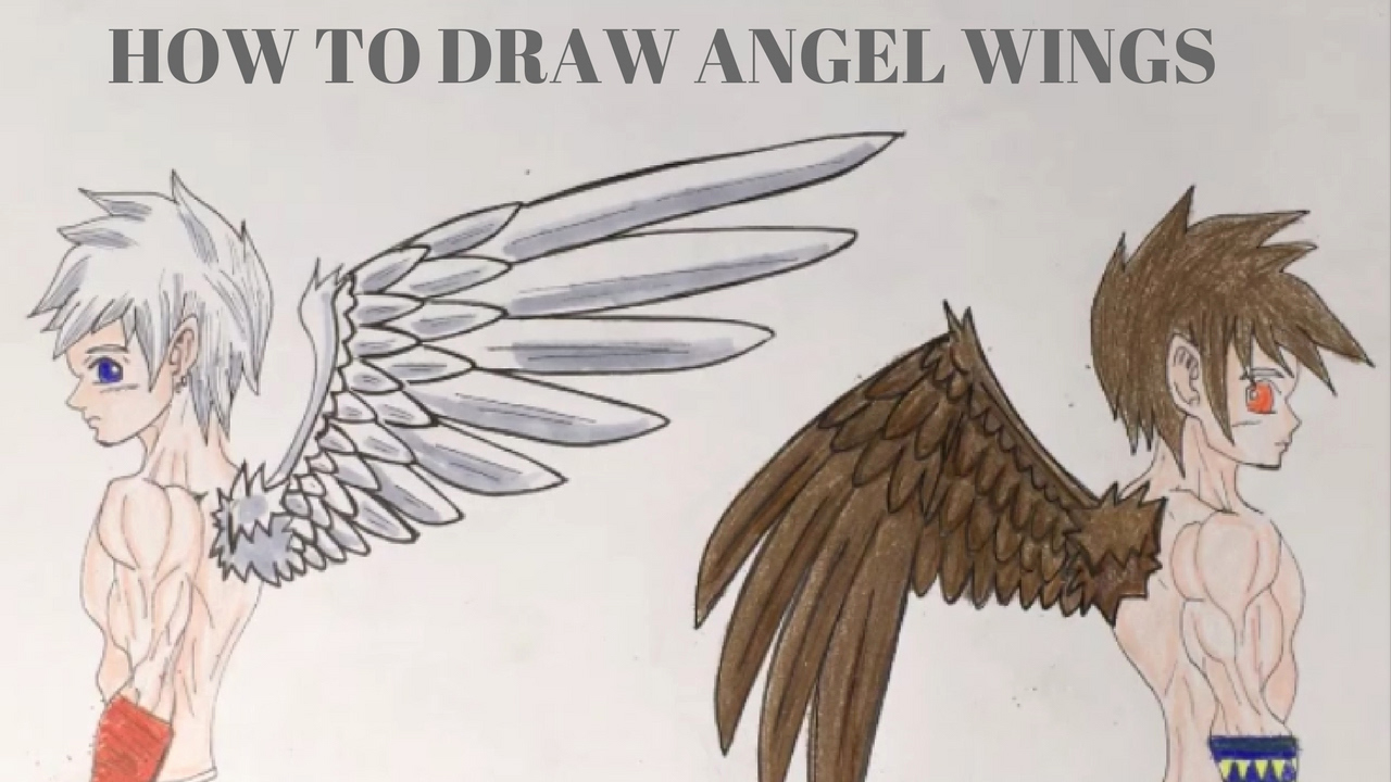Drawings Of Angels Wings Best Of How to Draw Angel Wings Manga Style