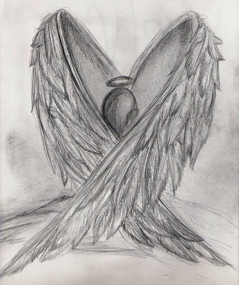 Drawings Of Angels Wings Elegant Broken Angel Drawing Google Search