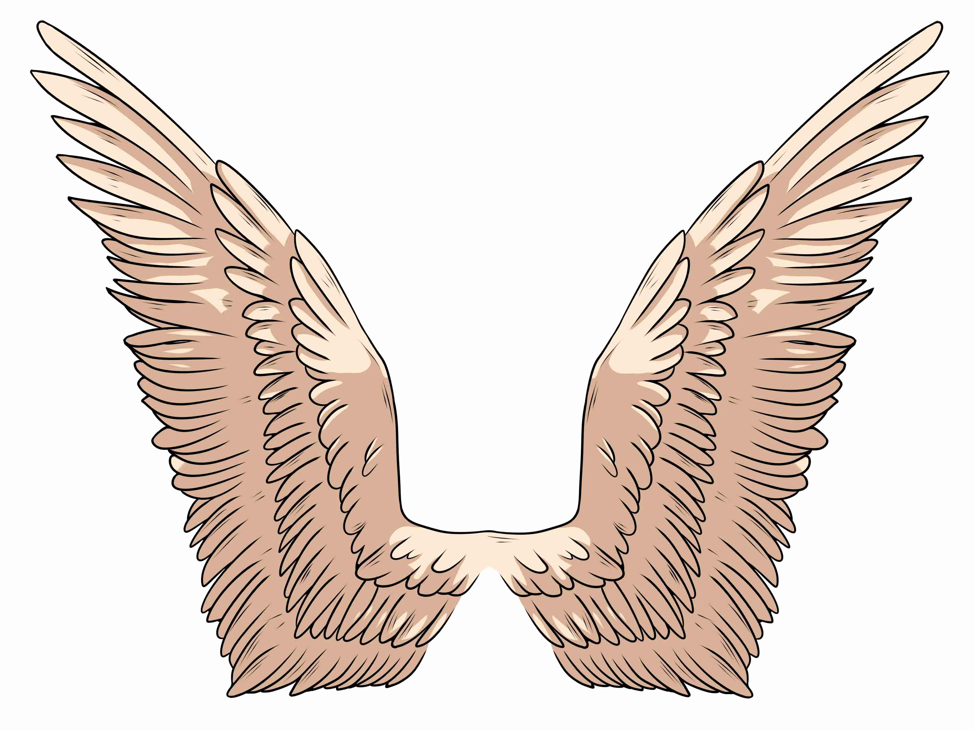 Drawings Of Angels Wings Elegant Free Simple Angel Wings Drawing Download Free Clip Art