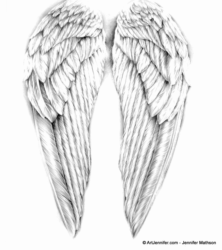 Drawings Of Angels Wings New 25 Best Ideas About Angel Wings Drawing On Pinterest
