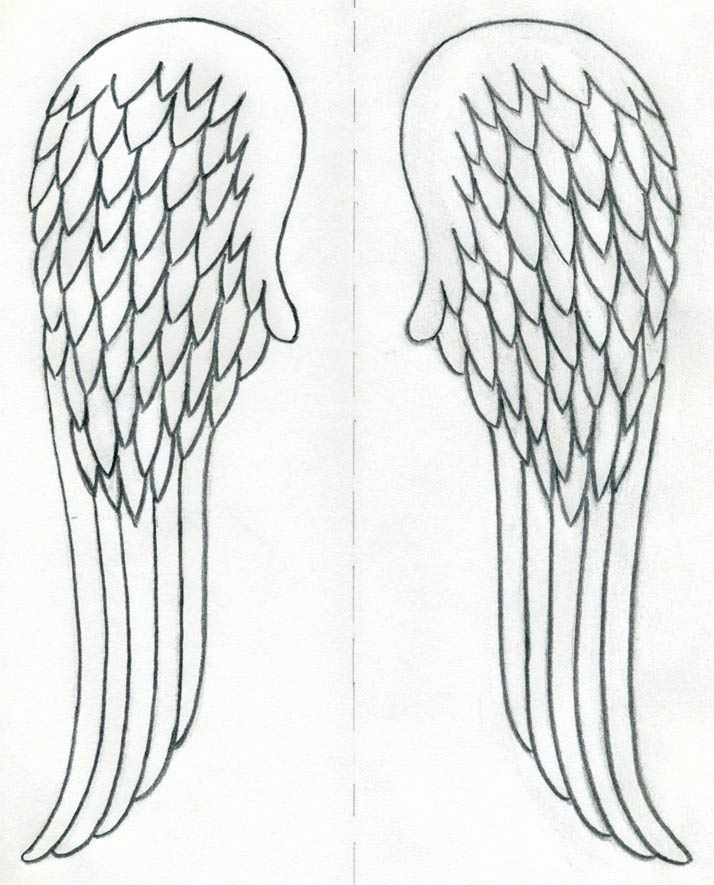 Drawings Of Angels Wings New How to Draw Angel Wings Quickly In Few Easy Steps