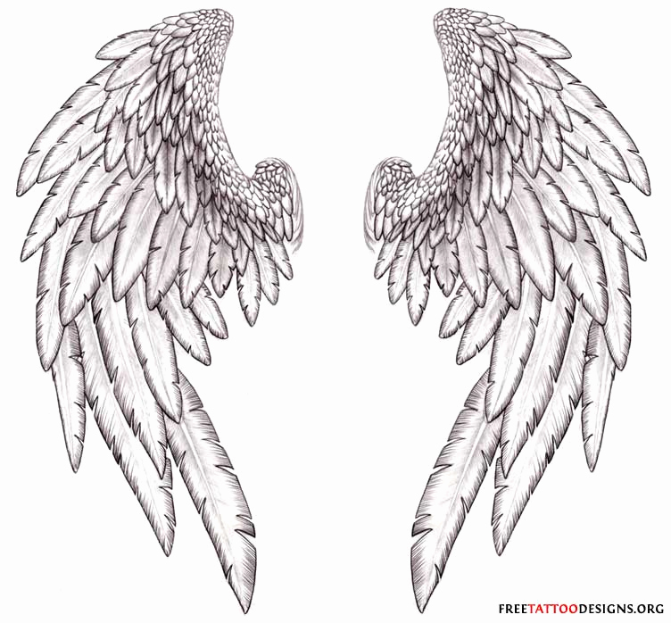 Drawings Of Angels Wings Unique Angel Tattoos