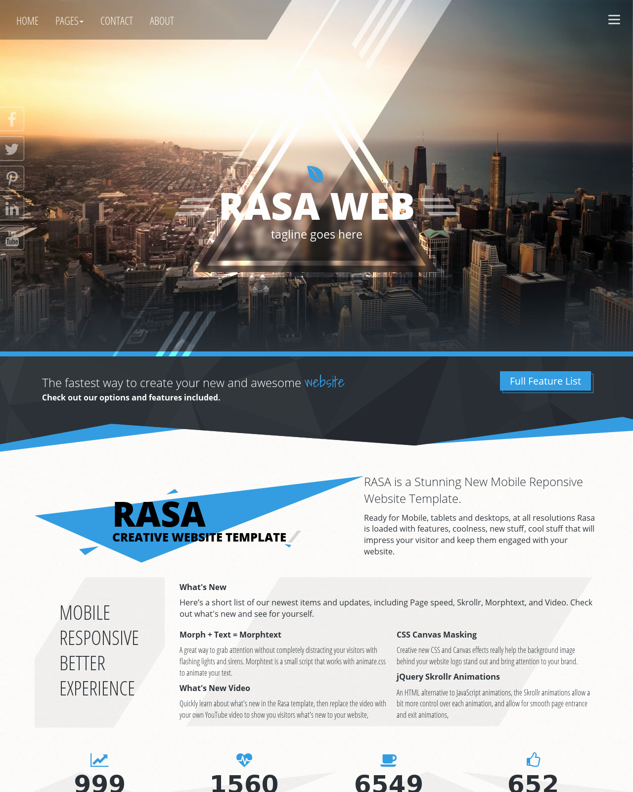 Dream Weaver Web Template Awesome Rasa [hd] Multi Purpose Blue Black