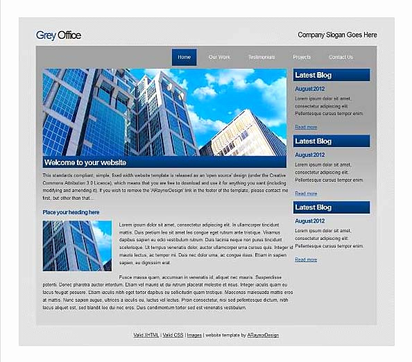 top free corporate dreamweaver templates