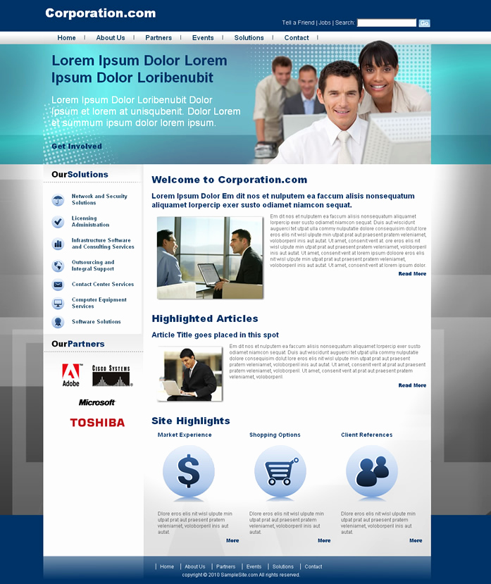 Dream Weaver Web Template Fresh Corporative Website I Dreamweaver Templates