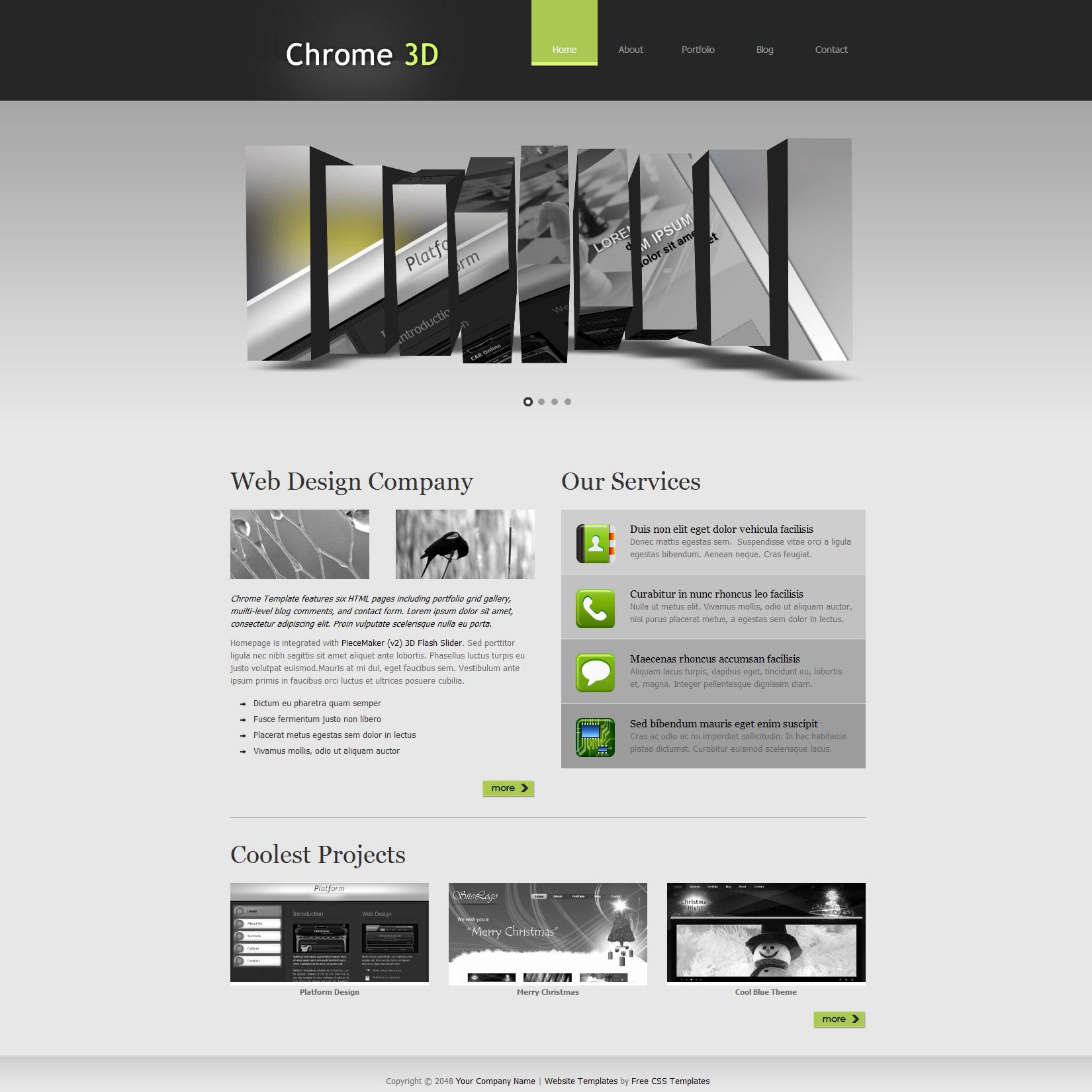 Dream Weaver Web Templates Beautiful Free Template 281 Chrome