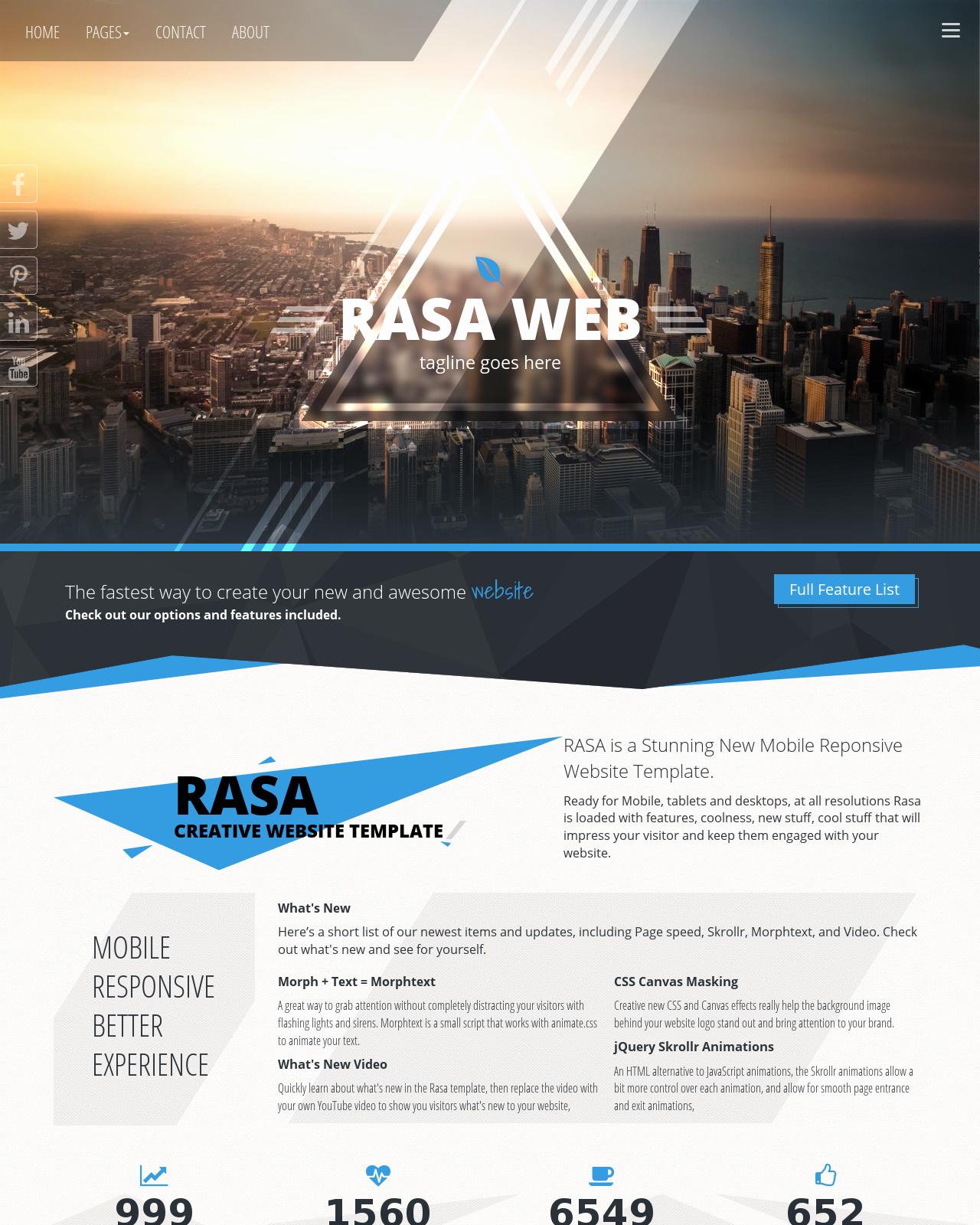 Dream Weaver Web Templates Beautiful Rasa [hd] Multi Purpose Blue Black