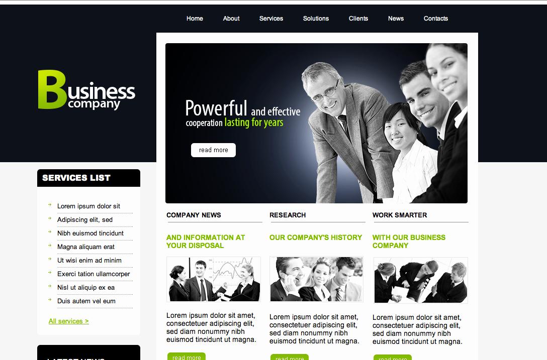 Dream Weaver Web Templates Best Of Free Dreamweaver Business Website Templates