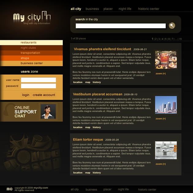 Dream Weaver Web Templates Best Of My City Dreamweaver Templates