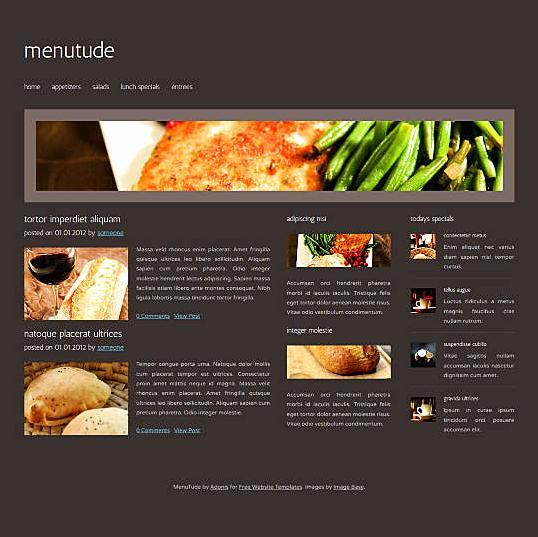Dream Weaver Web Templates Lovely Free Dreamweaver Restaurant Templates