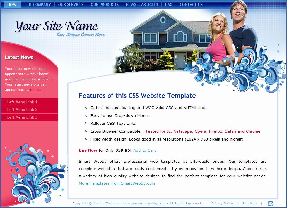 Dream Weaver Web Templates Luxury Bubbly Blue Template
