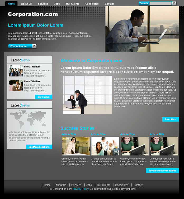 Dream Weaver Website Templates Inspirational Corporative Website Ii Dreamweaver Templates