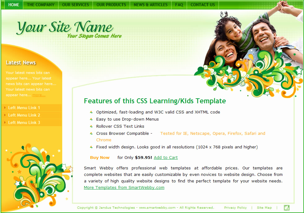 Dream Weaver Website Templates New orange Rush Template