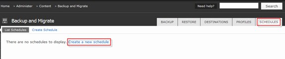 Drupal Backup and Migrate Luxury Scheduled Backup